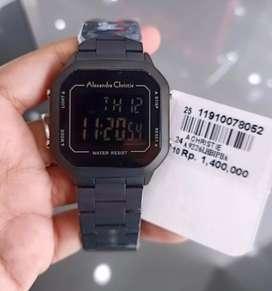 Jam tangan alexandre christie digital original fullset garansi resmi