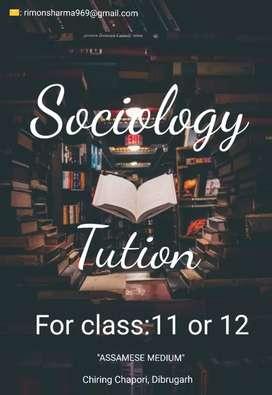 "Sociology Tution for class 11 or 12.""Assamese Medium student"""
