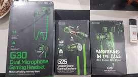 HEADSET / EARPHONE GAMING PLEXTONE G20, G25, G30