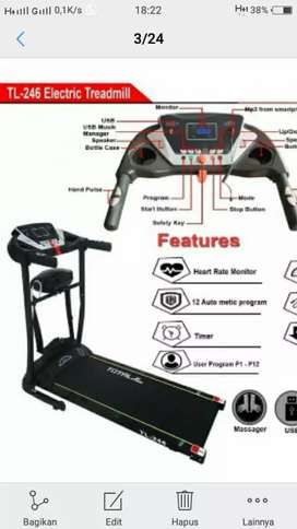Surabaya sale treadmill eleltrik 2 fungsi  tl246