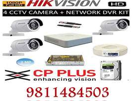 CCTV camera hikvision & cp plus and door lock installation Delhi & Ncr