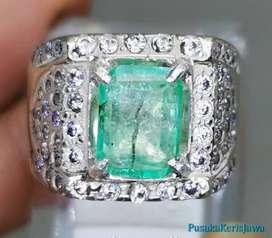 Batu Permata Hijau Zamrud Emerald Colombia Akik Bersertifikat