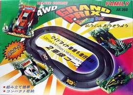 Mainan Track Jalanan Tamiya 2 Jalur Abu Abu 4WD Grand Prix Gojek Grab