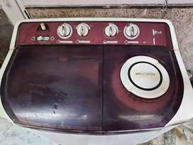LG 8 Kg 5 Star Semi-Automatic Top Loading Washing Machine (Burgandy)