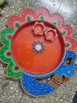 Pooja wooden thali