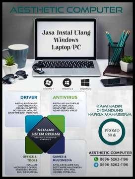 Jasa Instal Ulang Laptop, Notebook, Promo Murah Berkualitas dan Aman