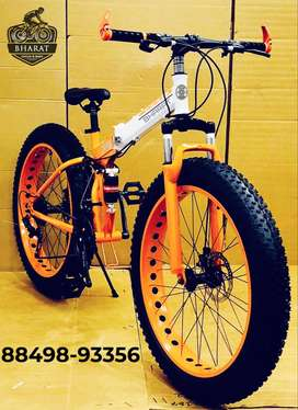 FOLDABLE FAT TYRE CYCLE , 26*4 INCH WHEELS AND 21 SHIMANO GEARS