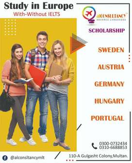Study in European with and without Ielts