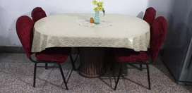 Dining table with 4 chair.