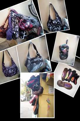 Leather and Velvet Purses