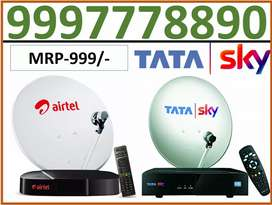 Tata sky all India service Airtel TV cash on delivery 1 month free