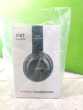 Headphone bluetooth p47 extra bass