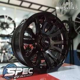 velg import murah ring 15 untuk mobil innova xpander cicilan  0%