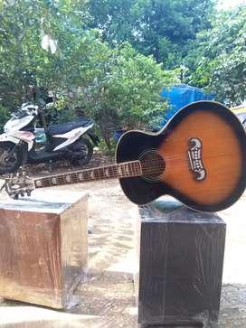 Gitar akustik gibson dabel ran