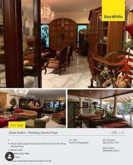 Rumah Menteng Sutan Syahrir Siap Huni Mewah Murah Harga Nego