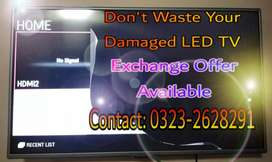 """""""LED Panel Cracked/Damaged Don't Worry - Exchange Offer Available """""""