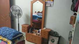Dressing table made of orginal wood and no damage. Price negotiable.