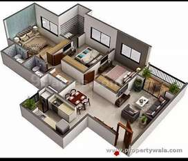 3bhk flat available for sell at Dombivli east,