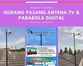 Workshop ahli pasang servis antena tv biar jernih nanggung