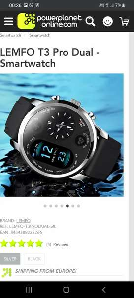 Smart Watch Lemfo T3 American Imported