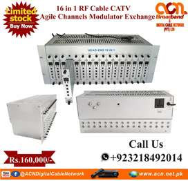 16 in 1 RF Cable CATV Agile channels Modulator