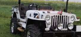 White modified willy jeep