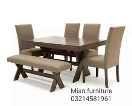 Dining Table with 4 Chairs and Stool