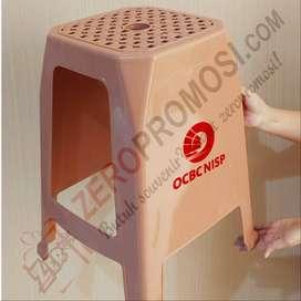 Souvenir Bangku Plastik Promosi - Kursi Tinggi Promosi