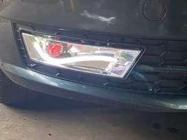 Skoda rapid led fog lights with DRL and indicators