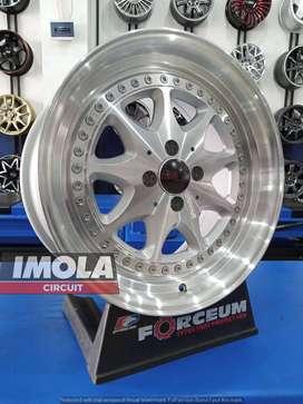 Velg mobil racing R17 HSR BM3 Ring 17 Lubang 4x100 Lebar 7,5/8,5 March