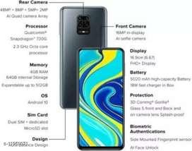 Redmi Note 9 Pro (Interstellar Black, 128 GB) (6 GB RAM)