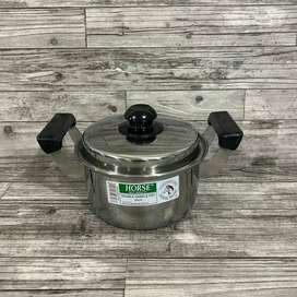 Double Handle Pot Horse Brand 20cm