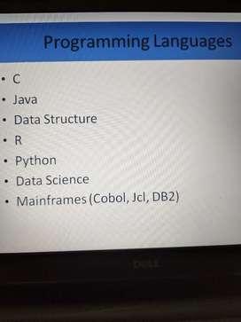 C, Java, Data Structures, Python, R, Data Science, Mainframes