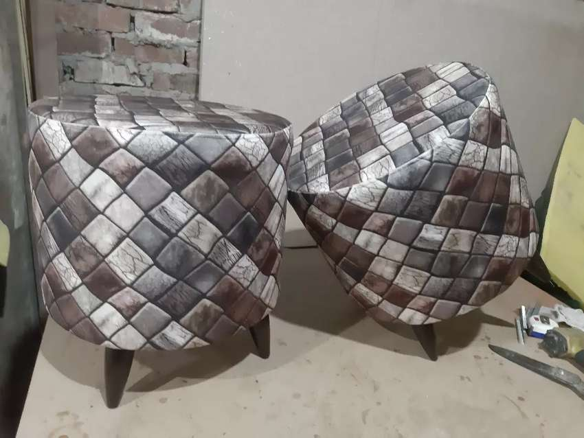 Beautiful pair of stools or ottoman