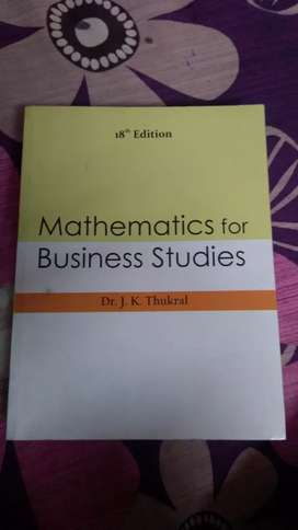 Mathematics for business studies by Dr.J.K.Thukral