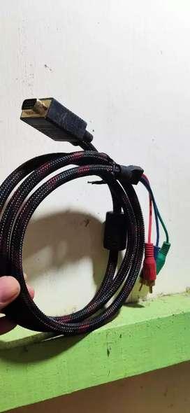 RCA ke VGA kabel konverter