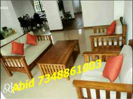 MJ55  branded wood sofa set branded color 5 years warranty hurry