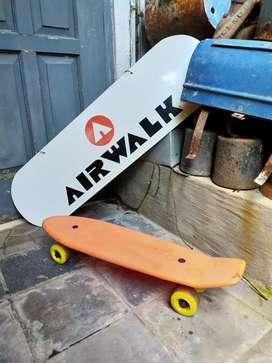 Skateboard Papan Skate Plastic Retro Vintage
