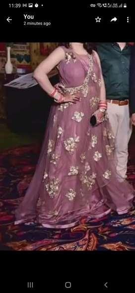 Wedding peach coloured gown