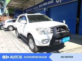 [OLX Autos] Toyota Fortuner 2.5 G Turbo Solar 2011 AT Putih #MJ Motor