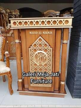 Mimbar Masjid podium kursi B38 minimalis