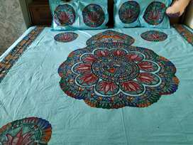Cotton bedsheets with pillow cover