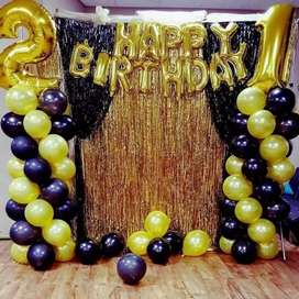 Birthday party and anniversary balloons decorstions