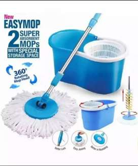 Spin Mop 360 Degree Microfiber Cloth with Spin Handle Easy Home