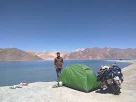 Tent ,ladakh carrer ,charger , puncture spray all for rent