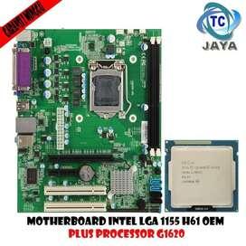 Paketan Mainboard Intel LGA 1155 H61 OEM PLUS Processor Celeron G1620