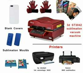 3D Heat Press Mobile Back Cover Printing Business