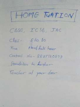 Home tuation for class -5 to 10