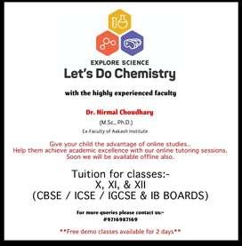 Chemistry Classes for X, XI & XII for CBSC, ICSC, IGCSE & IB Board
