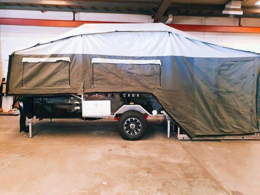 BRAND NEW OFF ROAD CAMPER TRAILER DUAL FOLD, FORWARD+REAR for Camping 0